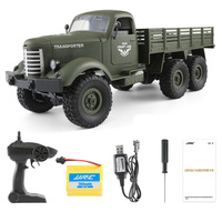RC Truck 1: 16 2.4G Remote Control 6WD Tracked Off Road Army Truck Wpl Radio Controlled Cars Toys For Children
