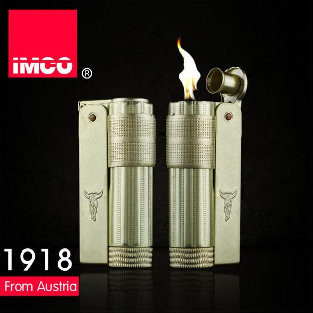 Classical Genuine IMCO Petrol Lighter General Lighter Original Copper Oil Gasoline Cigarette Gas Lighter Cigar Fire Pure Copper