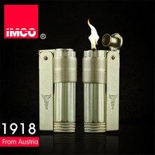 Klassische Echtes IMCO Benzin Leichter Allgemeine Leichter Original Kupfer Öl Benzin Zigarette Gas Feuerzeug Zigarre Feuer Reinem Kupfer