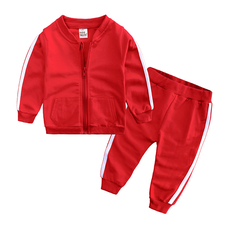 Boys Girls Clothes 2019 Spring Baby Zipper Sports Clothing Children Outfit Jacket Trousers Two Piece Sets Baby Clothes FZ9460 in Clothing Sets from Mother Kids