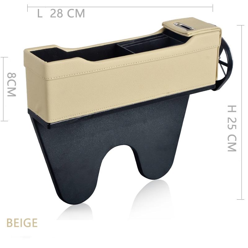 Console Side Pocket Car Organizer Car Seat Catcher Vult de kloof - Auto-interieur accessoires - Foto 6