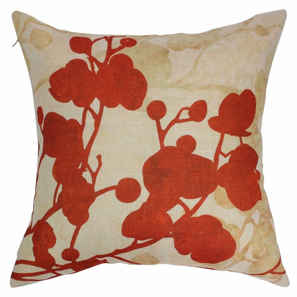 online get cheap red throw pillows aliexpresscom  alibaba group - decorative pillowcase red flower linen cushion case floral pillow cover throwpillows pillowcase home decorative christmas