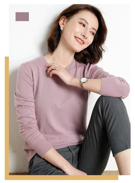 Yellow Cashmere Sweater For Women Sweaters Female Pink Wool Winter Woman Sweater Knitting Pullovers Knitted Sweaters Jumper 2019 25