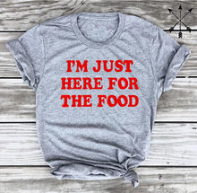 449b9fd0c0 I'm Just Here for the Food Tee Funny Thanksgiving Tees Foodie T-Shirt Women  Tumblr Graphic t shirt summer style tshirts