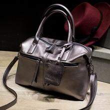 Neue Ankunft Stilvolle Frauen Split Leder Tasche Handtaschen Berühmte Marke Mode Boston Dame Leder Tragetaschen für Weibliche Damen