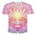 Weed Folha de Plantas Daninhas Cabra Baphomet T-Shirt Psicodélica Homme Verão T Shirt Das Mulheres Dos Homens Casual Camisetas Tees Tops Para Mulheres Dos Homens