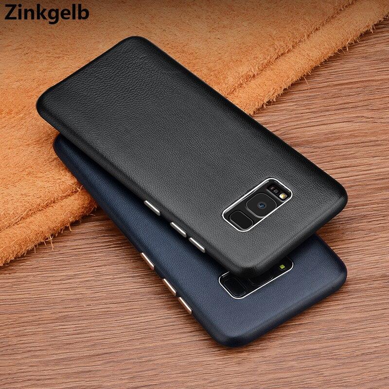 Para Samsung Galaxy S8 Plus Funda Funda de cuero genuino de lujo - Accesorios y repuestos para celulares