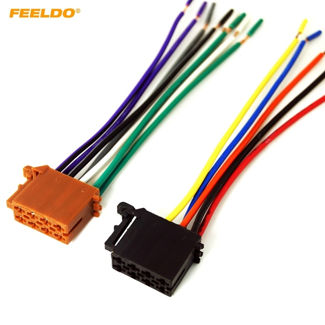 FEELDO 1Pair Car Audio Stereo Wiring Harness For Volkswagen Audi Mercedes Pluging Into OEM Factory Radio_640x640 metra 70 1786 radio wiring harness for mercedes 94 04 mercedes metra wiring harness mercedes at creativeand.co