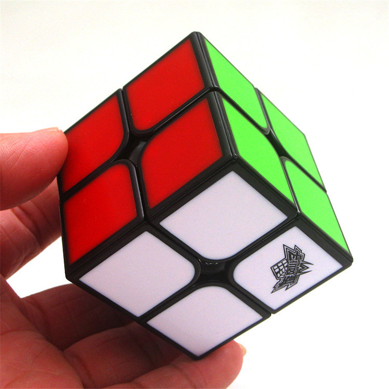 Cyclone Boys Feizhi 2x2 Magic Cube Stickless Puzzle Speed Cube Migico Puzzle Speed Cube Challenge Gifts Educational Learning Toy