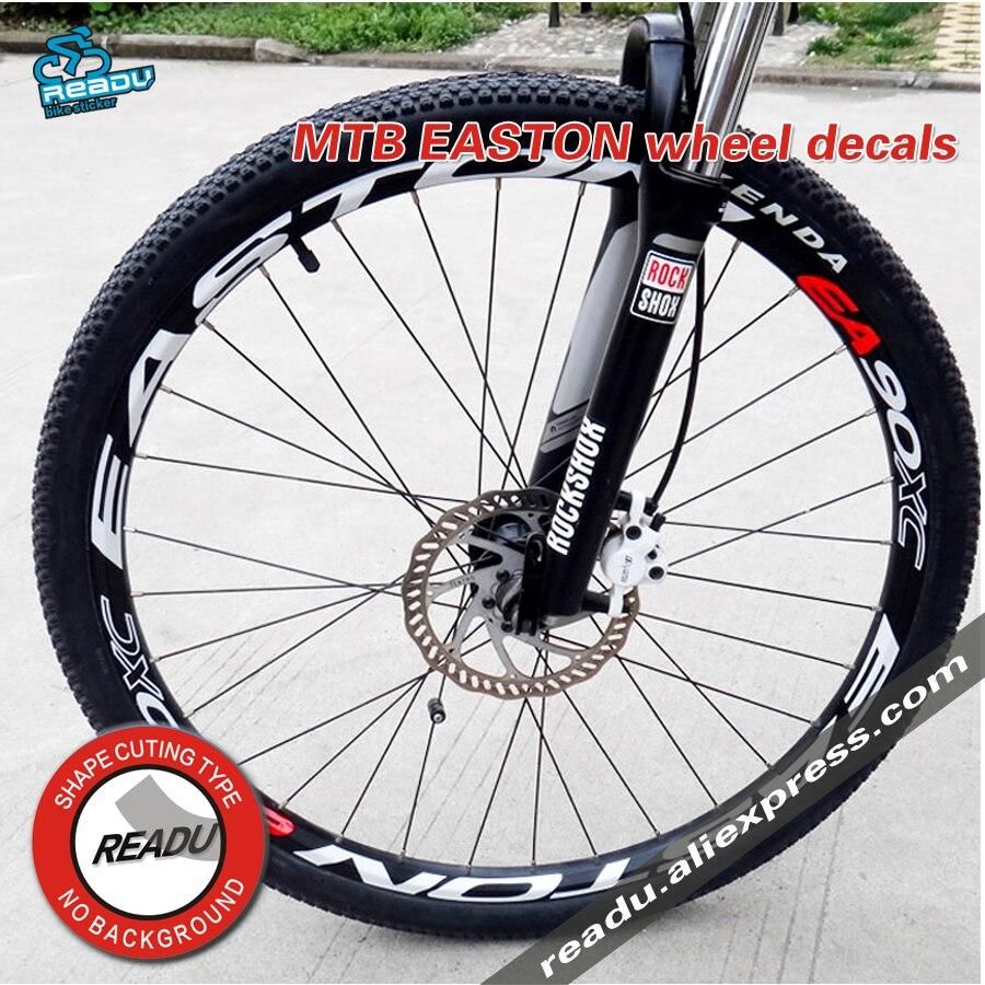 EA90XC jeu de roues autocollants vélo 26/27.5/29 pouce roues roue de vélo de montagne jante autocollants vélo autocollants jantes réfléchissant stickers