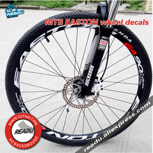 EA90XC conjunto de pegatinas de rueda bicicleta 26/27,5/29 pulgadas ruedas bicicleta de montaña pegatinas para llantas de rueda pegatinas de bicicleta llantas reflectantes