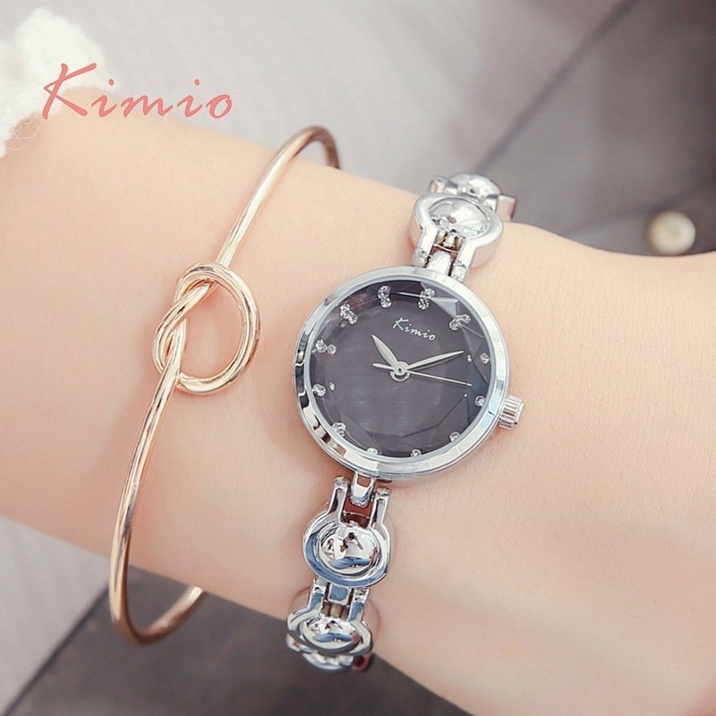 KIMIO Unique Pea-shaped Bracelet Watch Women Dress Watch Rhinestone Scale Japan Quartz Womens Watches Top Brand Free Shiping Hot