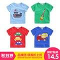 Ребенок аппликация с коротким рукавом футболки ребенок мужского пола с коротким рукавом летом 2017 основной рубашка детская одежда детская верхняя u2190