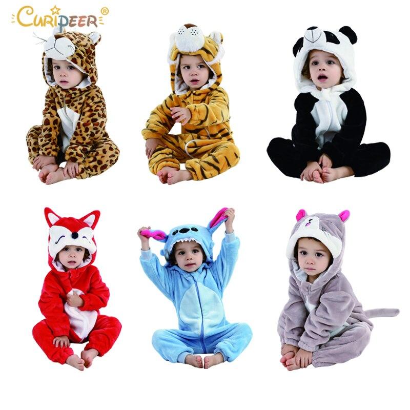 Gastvrij Baby Jongens Meisjes Pyjama Rits Kinderen Kids Eenhoorn Panda Winter Baby Pyjama Flanel Cartoon Cosplay Leuke Onesie Nachtkleding