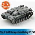Scale Model 1:72 Scale Tank Model Static Tank Model Assembled Colored Stug III Ausf.F Sturmgeschutz-Abteilung 201,1942 DIY Model