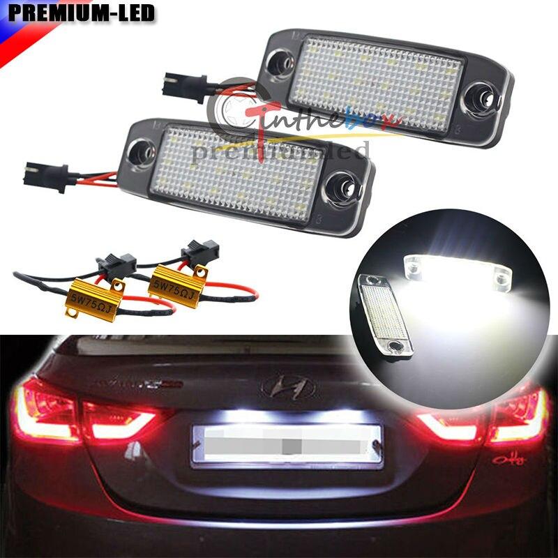 Conjuntos de luz LED de matrícula blancos de xenón de repuesto OEM para Hyundai Sonata YF i45 i40 2011-2014