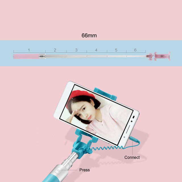 Huawei Honor Selfie Stick AF11 Monopod Wired Extendable Handheld Shutter for Mobilephone 128g 66cm