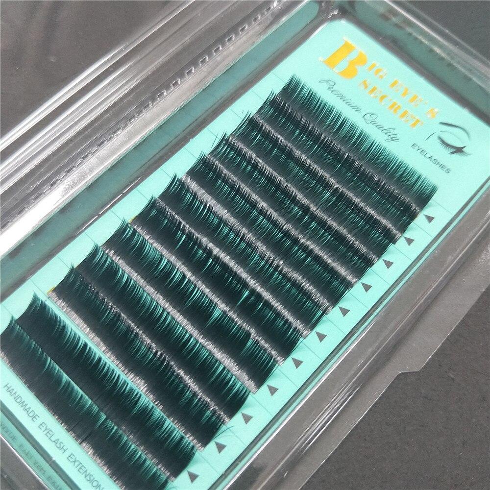 Flat Lashes Eyelashes Handmade Ellipse False Lashes Individual Soft Black Lashes Fake Silk Tools Faux Mink cashmere eyelash
