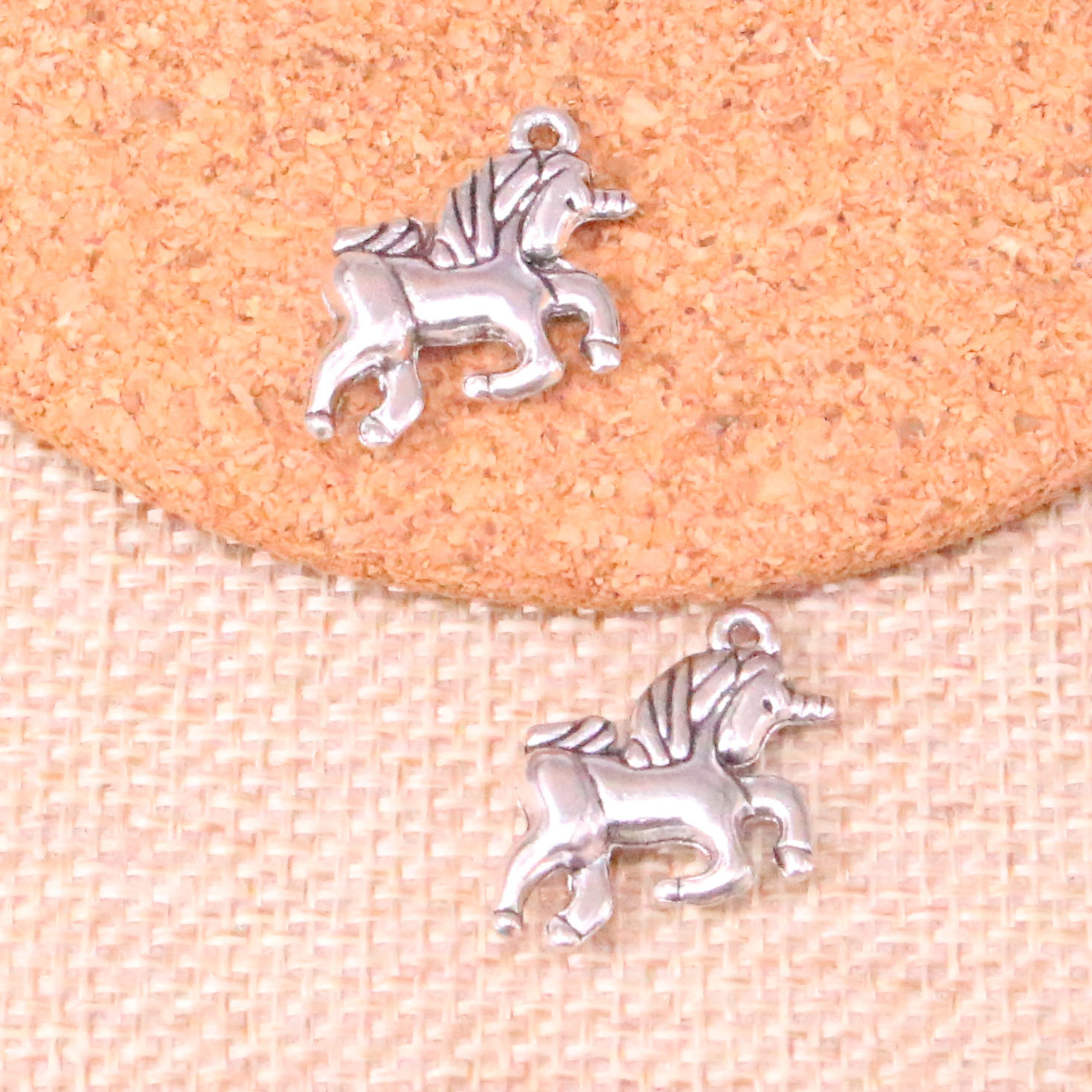 10 Pcs 19*16 Mm Horse Unicorn Charms Pendants For Jewelry Making Vintage Antique Silver Plated Diy Handmade Modern Design