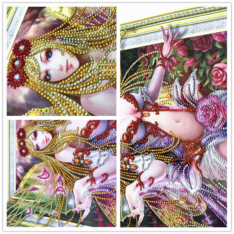 5d DIY 3D Elf Girl Diamond Embroidery Special Shape Diamond Painting Needle Rhinestone Crystal Painting Home Decor40x50cm in Diamond Painting Cross Stitch from Home Garden