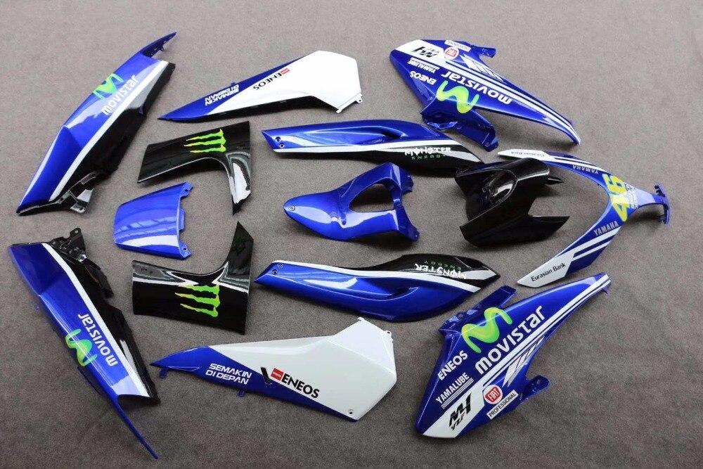 Complète Carénages Pour Yamaha TMAX 500 2008 2009 2010 2011 T-Max ABS En Plastique Kit Moto Carénage Plat Noir kit pas d'injection