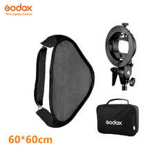 SFUV6060 Godox 60×60 cm/24*24 de polegada Softbox + S-Tipo Bowens Suporte Titular + saco Kit para Câmera Flash Speedlites