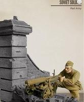 1/35 חורף הצבא האדום עם בסיס הרכבה לא צבוע בקנה מידה דמות היסטורית ערכת מיניאטורי מודל מלחמת העולם השנייה שרף
