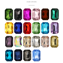 Hot Sale All Color 50Pcs High Quality Rectangle Glass Strass Sew On Rhinestone Nail Art Clothes Decoration Application