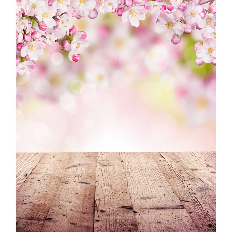 Falling Cherry Blossoms Wallpaper Thin Vinyl Photography Backdrops Children Floral Computer