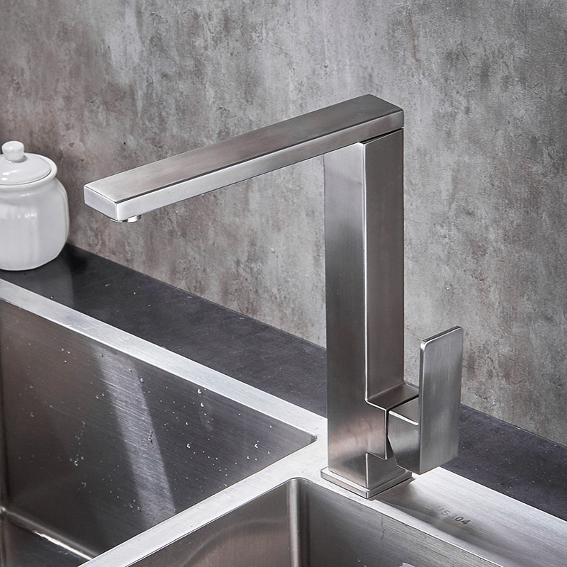 Quality Square Round Stainless Steel Kitchen Faucet Basin Sink faucets Mixer Tap Cold Hot Water Swivel Spout Lead Free XB8067 free shipping stainless steel folding lead free kitchen mixer tap sink faucet wall mounted hole hot and cold water kf785