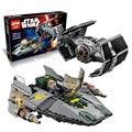 05030 LEPIN 722 Unids Star Wars Vader Tie Avanzado VS a-wing Starfighter 75150 Bloques de Construcción Compatibles con LEGOe STAR WARS Juguete