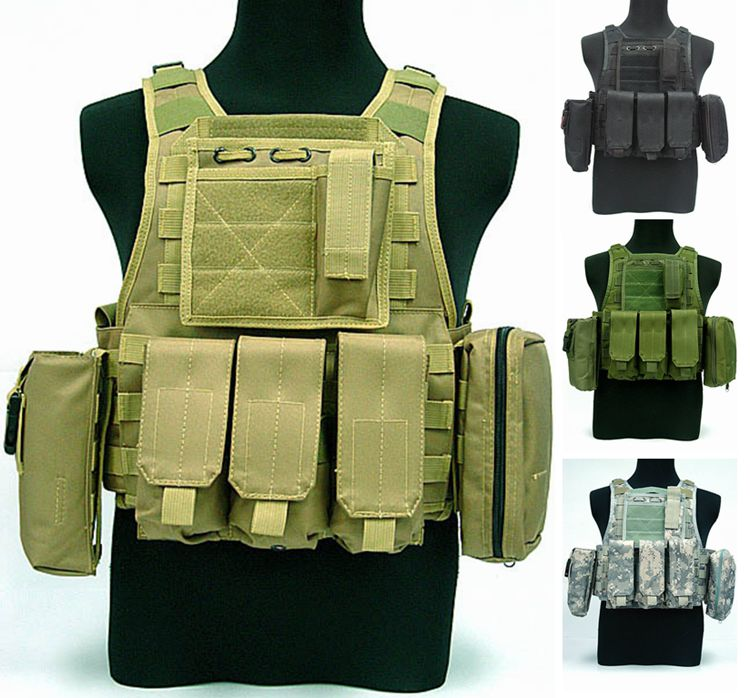 Amphibious vest special tactical vest combat protection field CS vest with walkie - talkie package helmet hornbills law enforcement tactical swat vest army fans outdoor vest game vest cs field vest