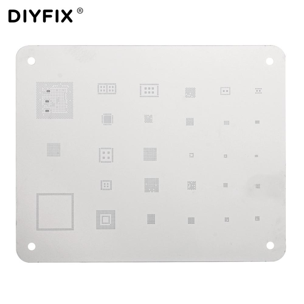 <font><b>BGA</b></font> Reballing <font><b>Stencil</b></font> <font><b>for</b></font> xiaomi Huawei VIVO OPPO Android Bluetooth Wifi IF IC Chip Ball Stainless Steel Plate Soldering Net image