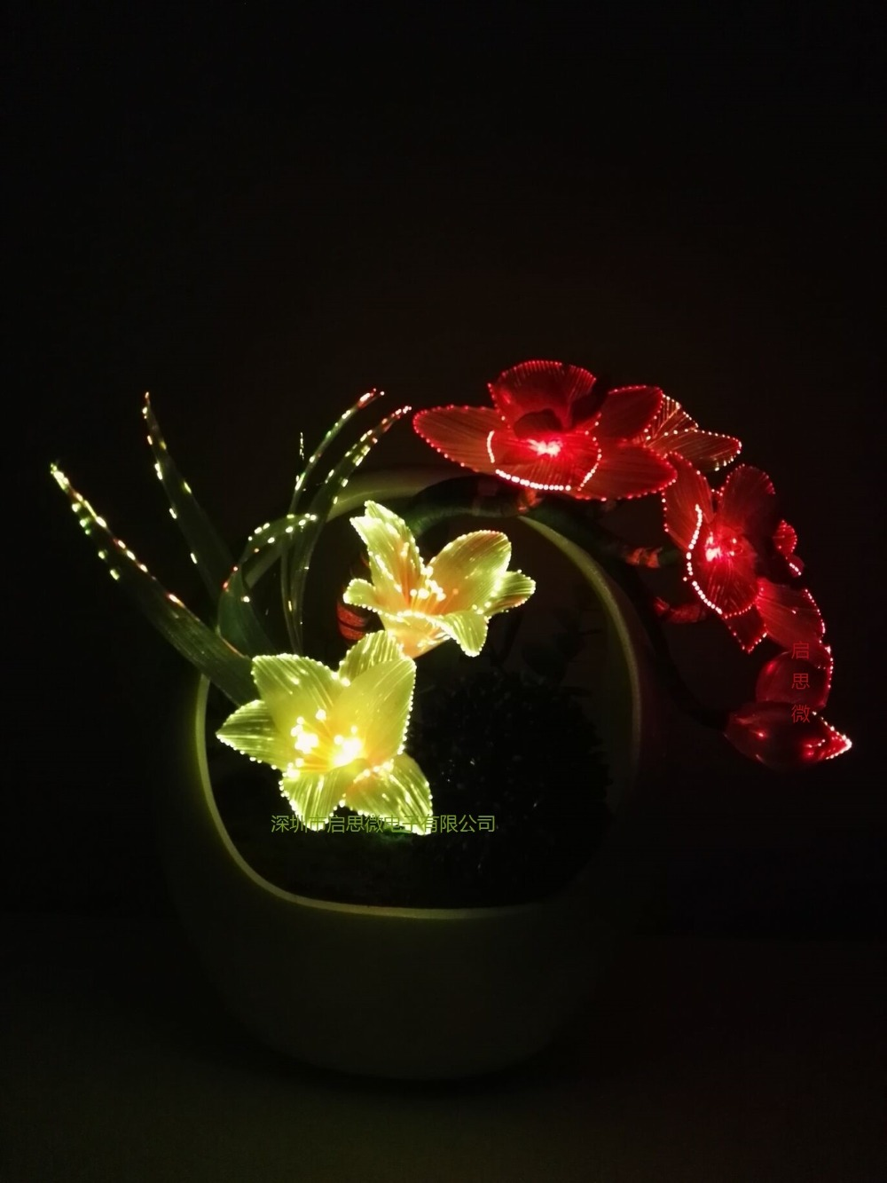 2018 Newest Led Real Touch Artificial Butterfly Lily Colourful Phalaenopsis For Wedding Home DIY Decoration Fake Flowers