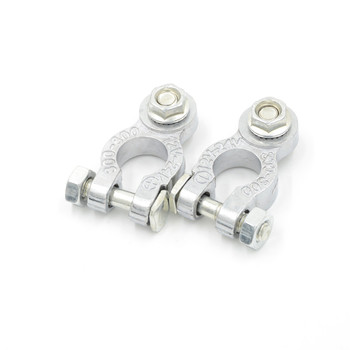 Hot 2Pcs Car Truck Battery Terminal Connector Clamp Clips Negative Positive Aluminum Alloy Material image