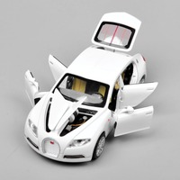 1 32 Bugatti Veyron 16C Galibier Electronic Light Sound Pull Back Collectible Alloy Diecast Cars Model