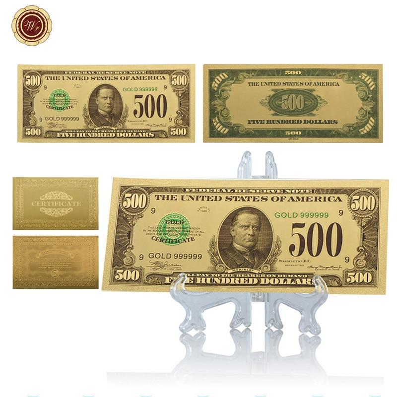 WR 500 dólar 24 K billete de oro regalos de recuerdo del festival ee ...