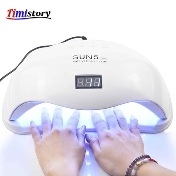 SUN5 PRO 72W Led Nail Lamp For Manicure 36 Pcs Led Beads Two Hand Lamp Nail Dryer For Curing Nail Gel Polish Nail File Tools