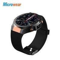 Microwear H2 android ios 1 г + 16 ГБ Смарт часы 1,39 дюймов mtk6580 SmartWatch телефон 3G Wi Fi gps 5 м сердечный ритм nano SIM GSM WCDMA