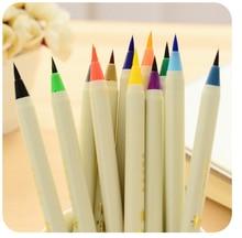 Новый 6 шт./лот разнообразие цвет кисть с чернилами каллиграфии кисти многоразового мягкий нейлон каллиграфия акварель пера живопись