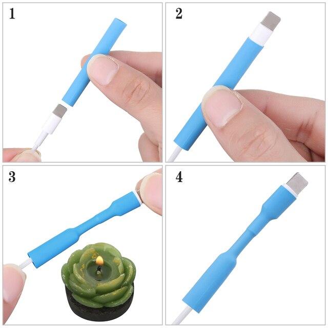 12pcs del Caricatore del USB del Cavo di Legare Organizzatore di Calore Del Tubo Termoretraibile Manica di Protezione del Cavo Del Tubo Saver Copertura per iPad iPhone 5 6 7 8 X X R XS
