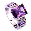 Art Deco Fashion Jewelry Morganite 925 Silver Ring Size 7 8 9 10 11 12 Charming amethyst Cut For Women Wholesale
