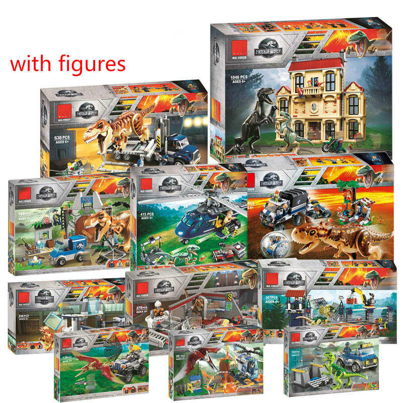 Jurassic World 2 Indoraptor Rampage At Lockwood Estate Building Blocks Bricks Compatible Dinosaur 75930 75932 Toy Model
