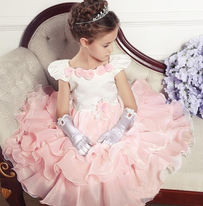 2015 New Ankle-Length Sleeveless Ruffles Princess Tutu birthday dresses