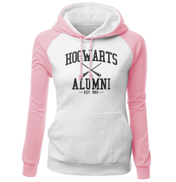 HOGWARTS ALUMNI Letter Print Women's Sweatshirt 2018 Autumn Winter Fleece Raglan Hoody Brand Clothing Fashion Pullover Harajuku 3