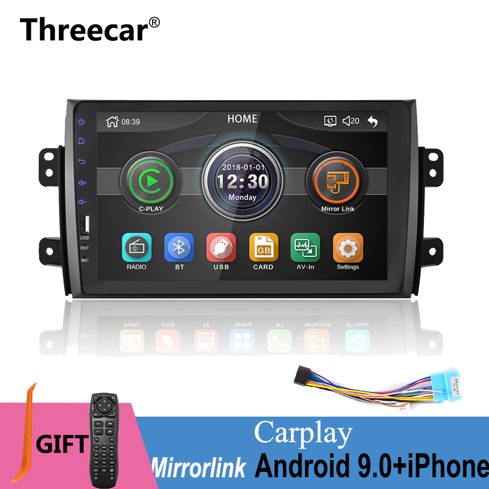 2 DIN Car Radio MP5 multimedia Player 9 inch mirror link iPhone Android 2din Car DVD Radio Player for Suzuki SX4 2006 2013