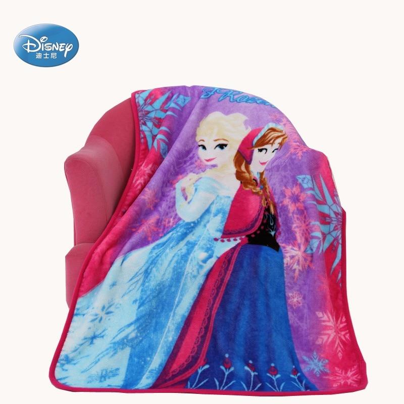 Disney mignon dessin animé Textile Anna Elsa reine des neiges princesse enfants doux chaud canapé corail polaire jeter couverture tapis en peluche 70X100cm