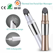 Mini Rechargeable Infrared Heating Ionic Face Eye Wrinkle Eraser Skin Lifting Tightening Firming Beauty Massager Vibrator Pen