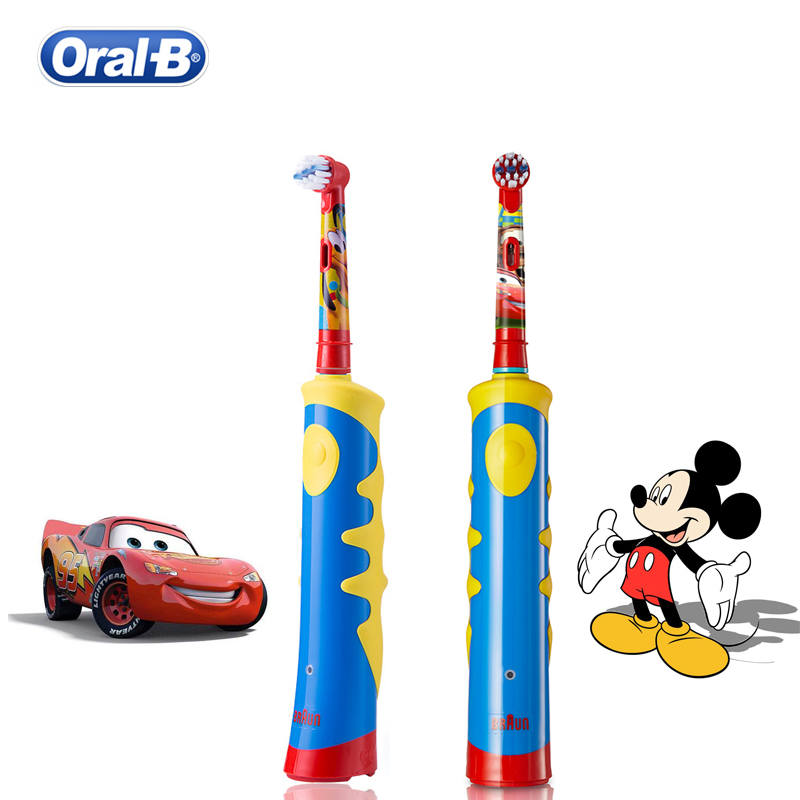 Oral B Children Electric Toothbrush Mickey Cars Rotation Inductive Charging Gum Care Waterproof Brush Head for Kids image