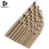 13pcs HSS M35 5 Cobalt Jobber Twist Drill Bit Set In Metal Case Top Tech Power